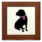 Shar Pei Breast Cancer Support Framed Tile