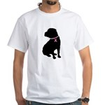 Shar Pei Breast Cancer Support White T-Shirt