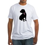 Shar Pei Breast Cancer Support Fitted T-Shirt