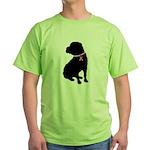 Shar Pei Breast Cancer Support Green T-Shirt