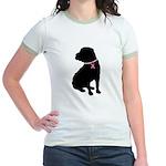Shar Pei Breast Cancer Support Jr. Ringer T-Shirt