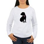 Shar Pei Breast Cancer Support Women's Long Sleeve