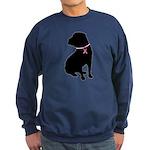 Shar Pei Breast Cancer Support Sweatshirt (dark)