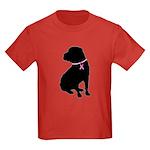 Shar Pei Breast Cancer Support Kids Dark T-Shirt