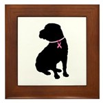 Shar Pei Breast Cancer Support Framed Tile