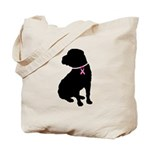 Shar Pei Breast Cancer Support Tote Bag