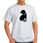 Shar Pei Breast Cancer Support Light T-Shirt
