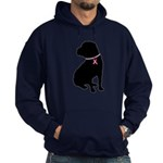 Shar Pei Breast Cancer Support Hoodie (dark)