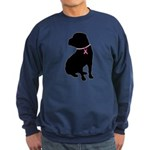 Shar Pei Breast Cancer Support Sweatshirt (dark)
