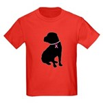 Shar Pei Breast Cancer Support Kids Dark T-Shirt