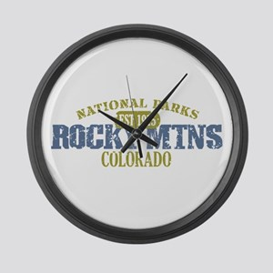 Rocky Mountain National Park Large Wall Clock