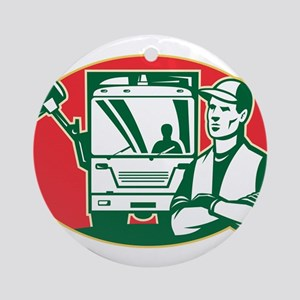 Garbage Collector Ornament (Round)