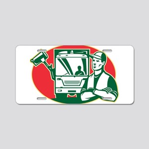 Garbage Collector Aluminum License Plate
