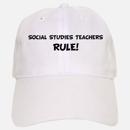 SOCIAL STUDIES TEACHERS Rule! Baseball Baseball Cap
