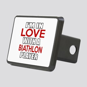 I Am In Love With Biathlon Rectangular Hitch Cover