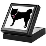 Siberian Husky Breast Cancer Support Keepsake Box