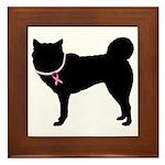 Siberian Husky Breast Cancer Support Framed Tile