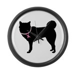 Siberian Husky Breast Cancer Support Large Wall Cl