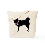 Siberian Husky Breast Cancer Support Tote Bag