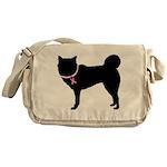 Siberian Husky Breast Cancer Support Messenger Bag