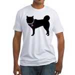 Siberian Husky Breast Cancer Support Fitted T-Shir