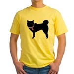 Siberian Husky Breast Cancer Support Yellow T-Shir