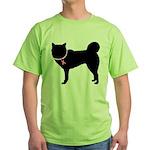Siberian Husky Breast Cancer Support Green T-Shirt