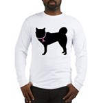 Siberian Husky Breast Cancer Support Long Sleeve T