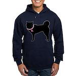 Siberian Husky Breast Cancer Support Hoodie (dark)