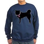 Siberian Husky Breast Cancer Support Sweatshirt (d
