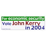 Kerry - Economic Security Bumpersticker