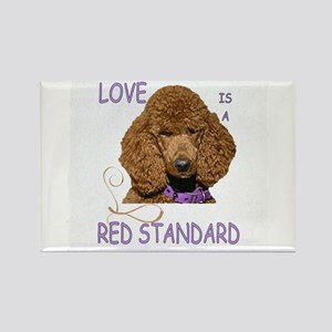 Love is a Red Standard Rectangle Magnet