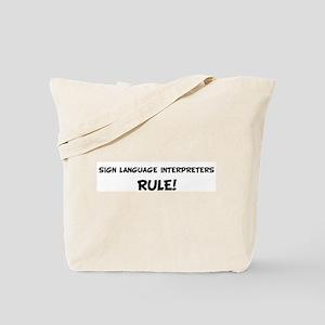 SIGN LANGUAGE INTERPRETERS Ru Tote Bag