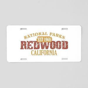 Redwood National Park CA Aluminum License Plate