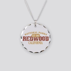 Redwood National Park CA Necklace Circle Charm