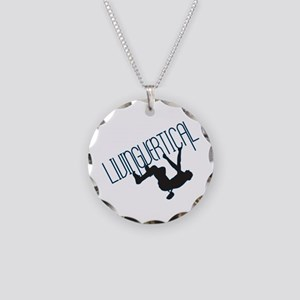 Living Vertical Necklace Circle Charm