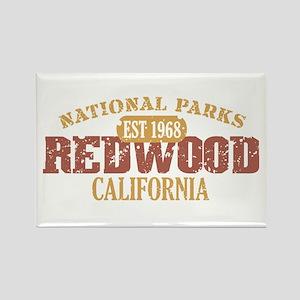 Redwood National Park CA Rectangle Magnet