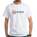 No Smoking White T-Shirt