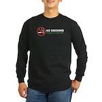 No Smoking Long Sleeve Dark T-Shirt