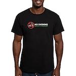 No Smoking Men's Fitted T-Shirt (dark)