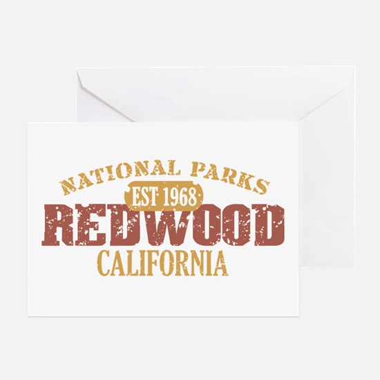Redwood National Park CA Greeting Card