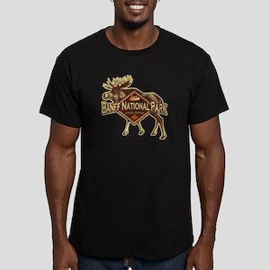 Banff Natl Park Moose Men's Fitted T-Shirt (dark)