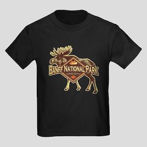 Banff Natl Park Moose Kids Dark T-Shirt