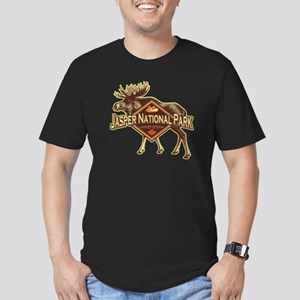 Jasper Natl Park Moose Men's Fitted T-Shirt (dark)