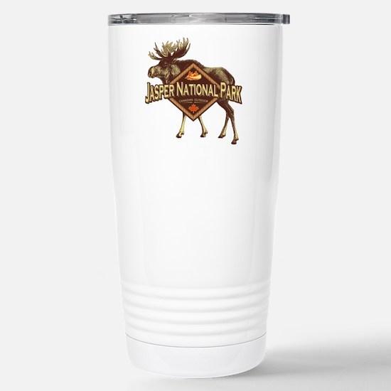 Jasper Natl Park Moose Stainless Steel Travel Mug