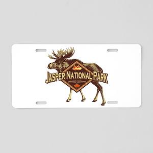Jasper Natl Park Moose Aluminum License Plate