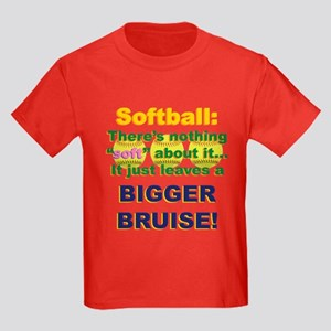 Softball = Not Soft Kids Dark T-Shirt