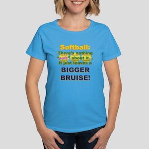 Softball = Not Soft Women's Dark T-Shirt