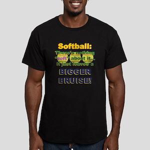 Softball = Not Soft Men's Fitted T-Shirt (dark)