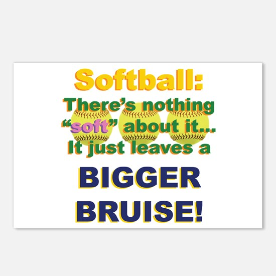 Softball = Not Soft Postcards (Package of 8)